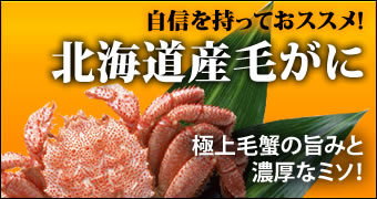 北海道産毛がにの一覧